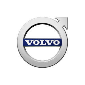 Volvo logo on a white background