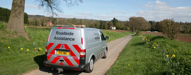 Silver Roadside Assistance Van