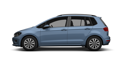 Blue Volkswagen Golf SV