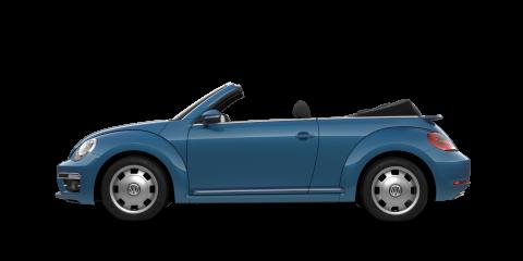 Blue Volkswagen Cabriolet