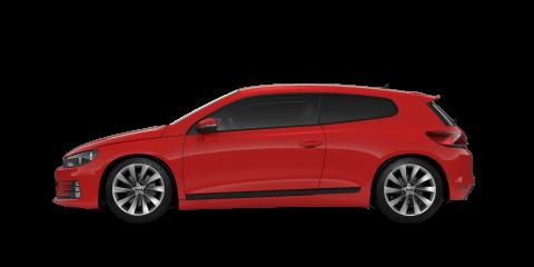 Red Volkswagen Scirocco
