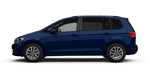 Dark Blue Volkswagen Touran