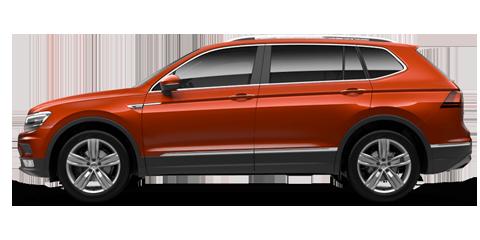 Orange Volkswagen Tiguan Allspace
