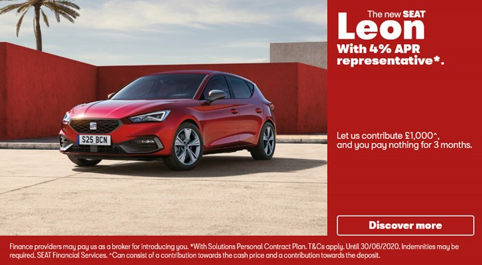 New SEAT Leon with £1000 deposit contribution