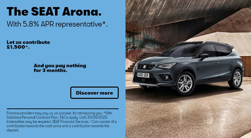 SEAT Arona with nothing to pay for 3 months