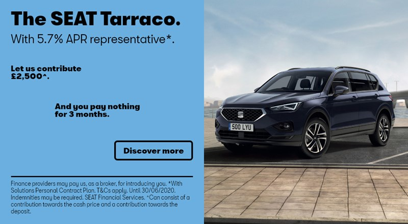SEAT Tarraco with nothing to pay for 3 months