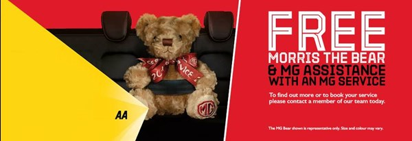 Free Morris the Bear & MG Assistance with an MG Service