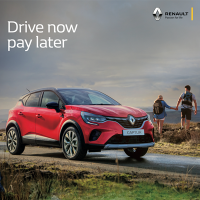 Drive Now Pay Later - Startin Renault Worcester