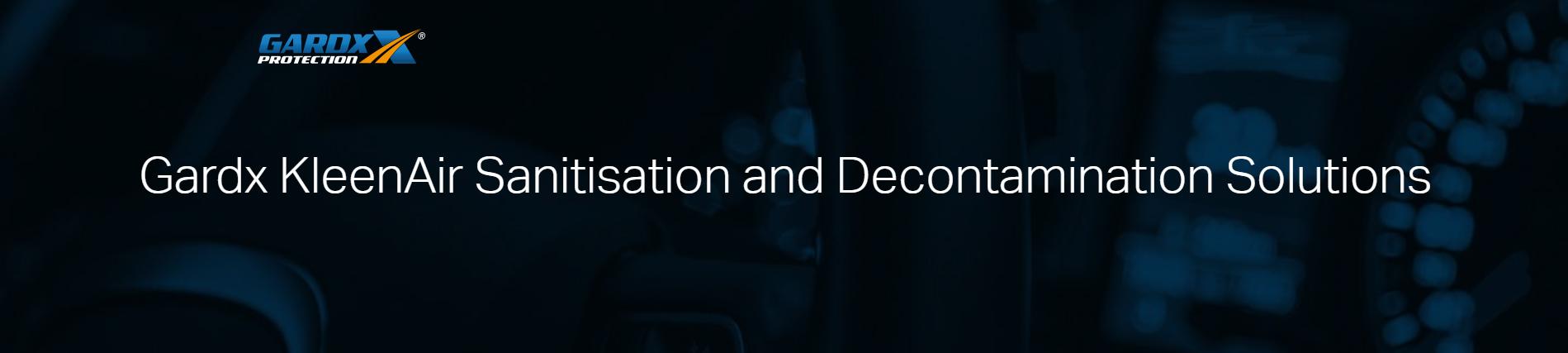 Gardx KleenAir Sanitisation and Decontamination Solutions