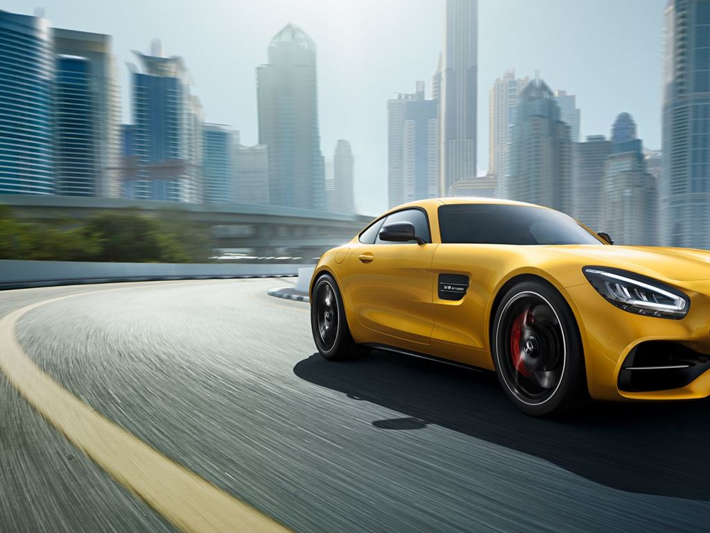 Yellow AMG GT Coupe