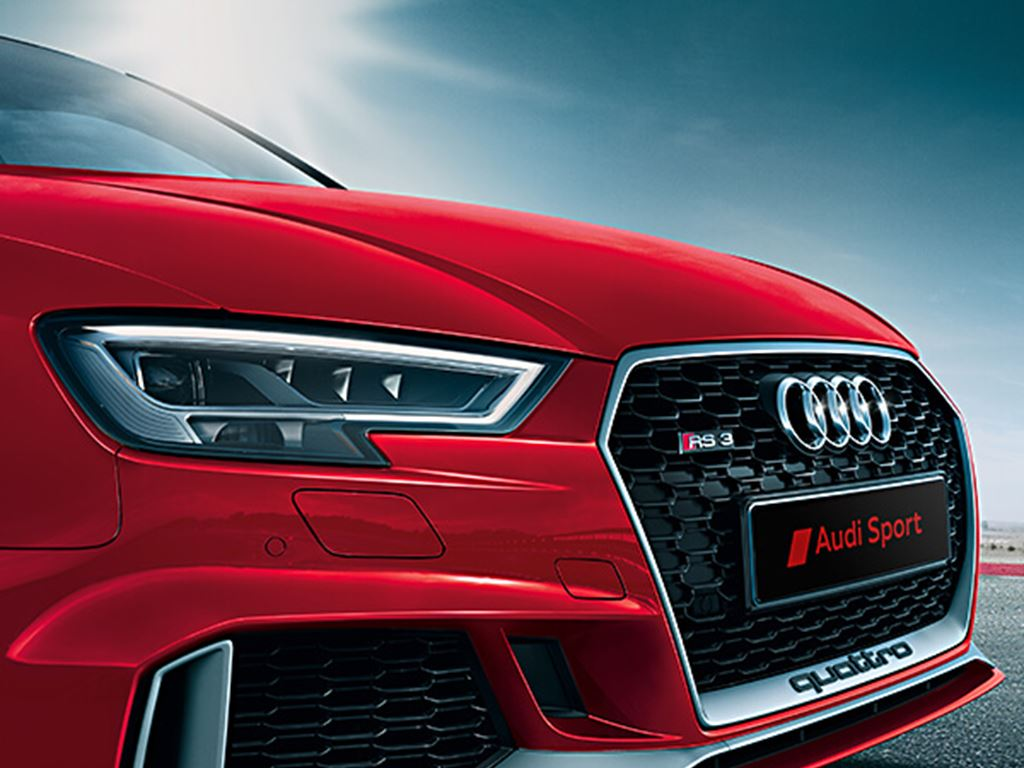 Red RS3 Grille