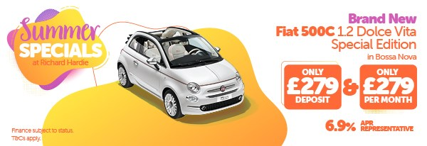 Summer Special Brand New Fiat 500C 1.2 Dolcevita