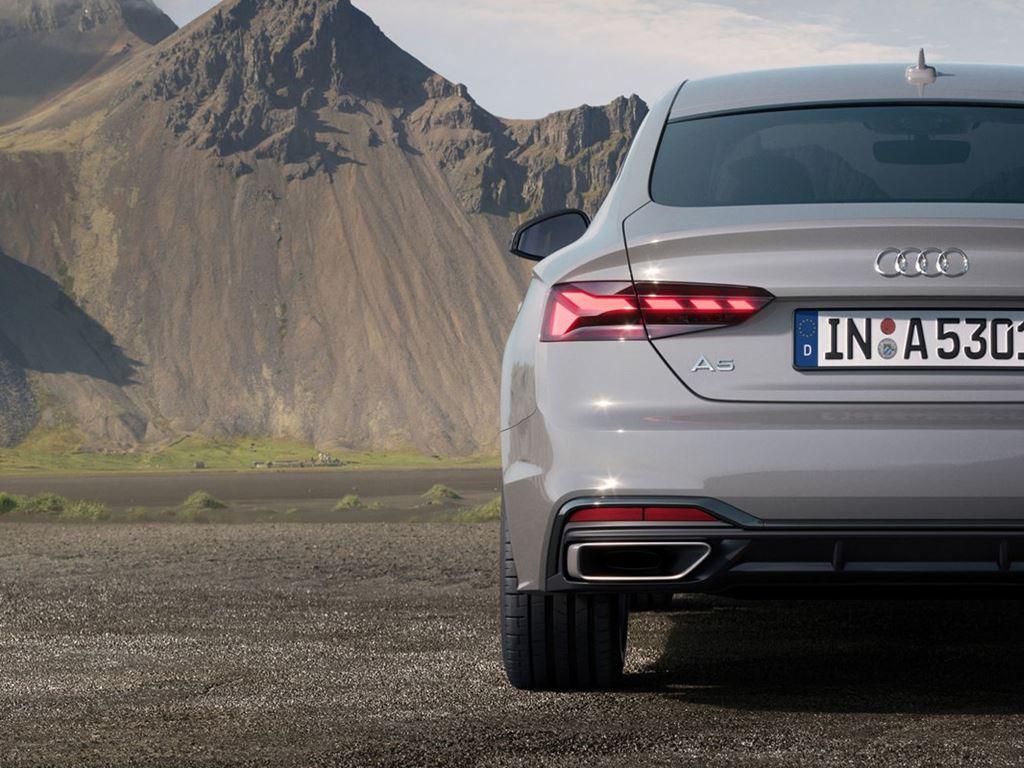Grey A5 Sportback rear view
