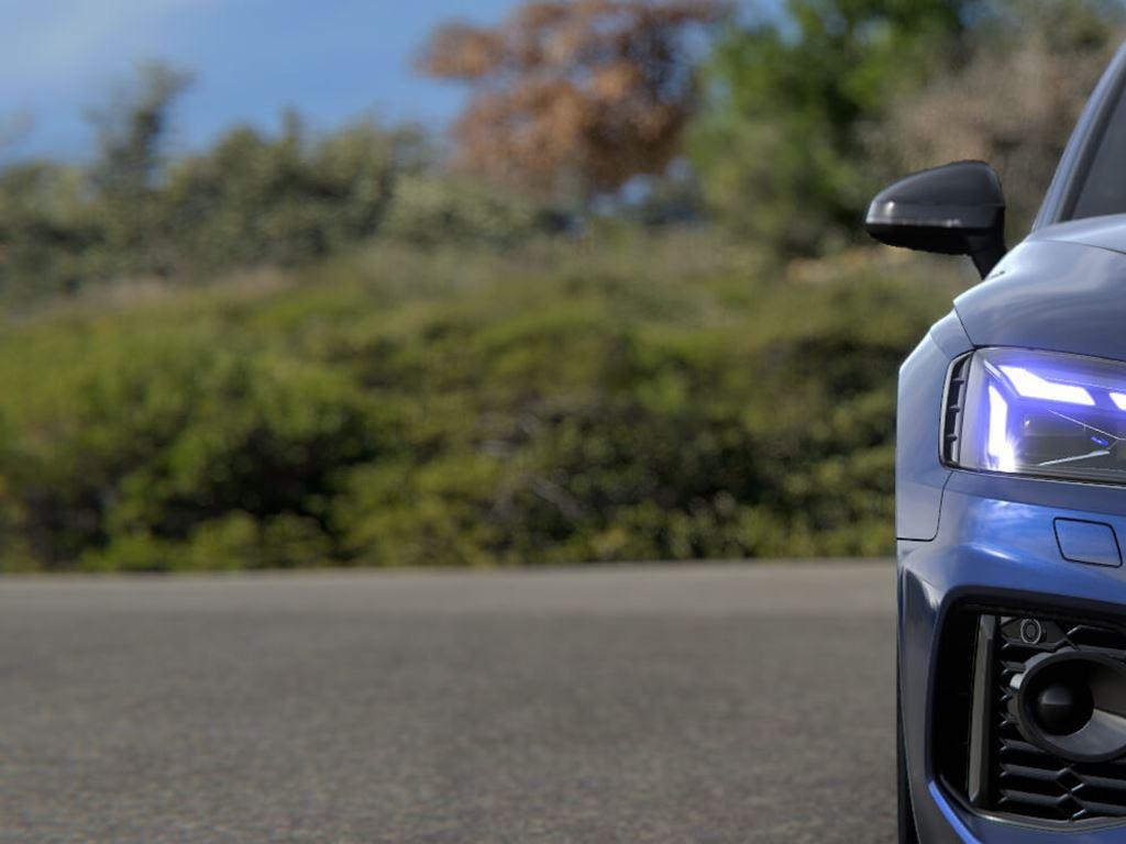 Blue RS5 Sportback front light