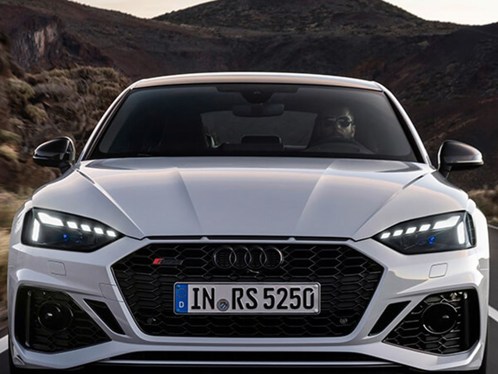 front view of RS5 Sportback being driven