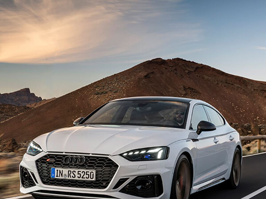 RS5 Sportback driving on the road