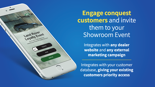 MB's Event solution is a perfect fit for showrooms social distancing requirements