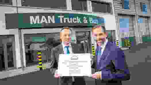 MAN Truck & Bus UK Ltd Gateshead, the new Angel of the North.
