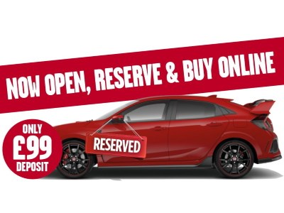 Reserve your vehicle and Buy Online with only £99 reservation fee