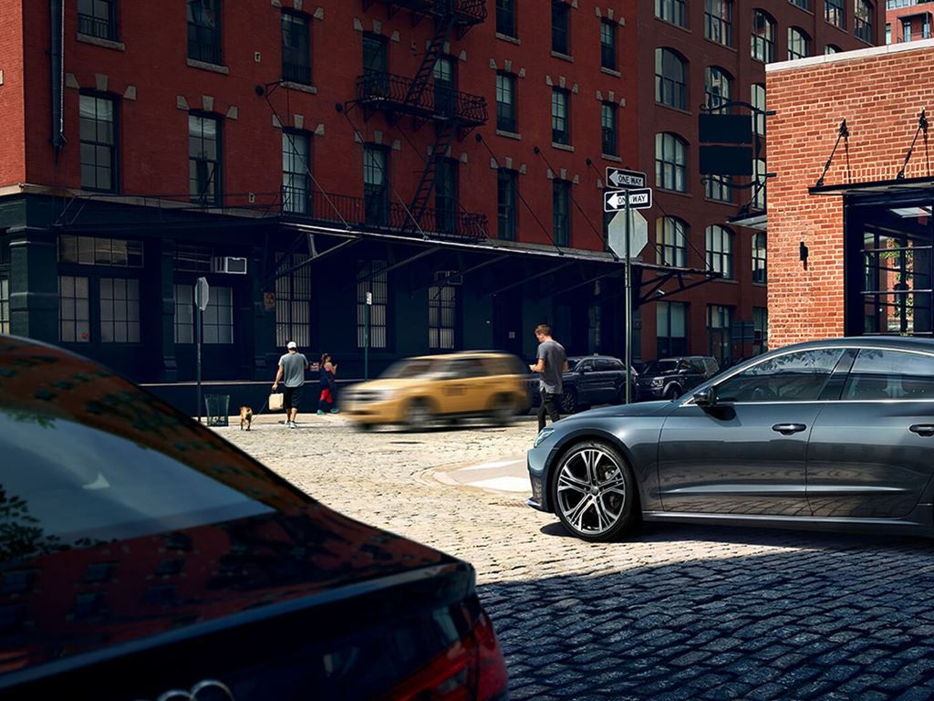 Grey A7 Sportback driving