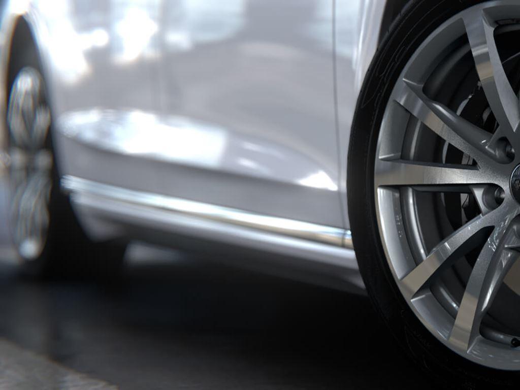 A8 L chrome wheels