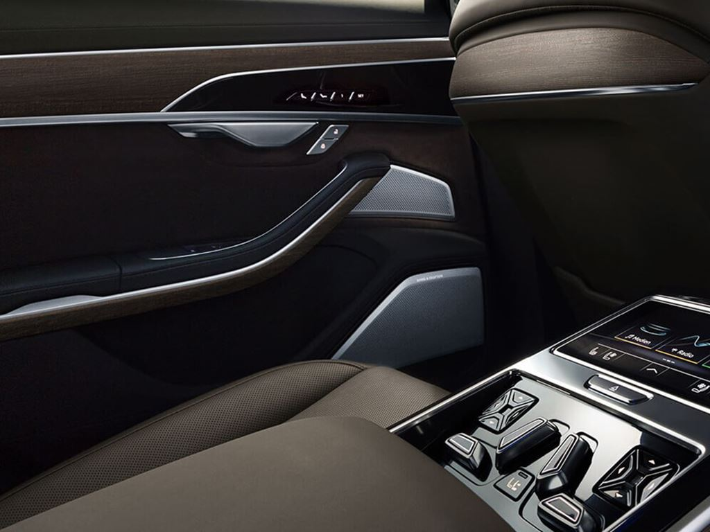 A8 L TFSI e Rear interior