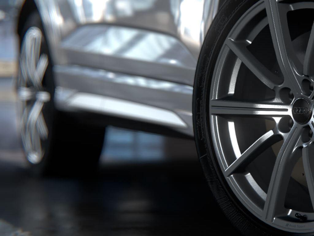 White RS Q3 Sportback alloy wheel