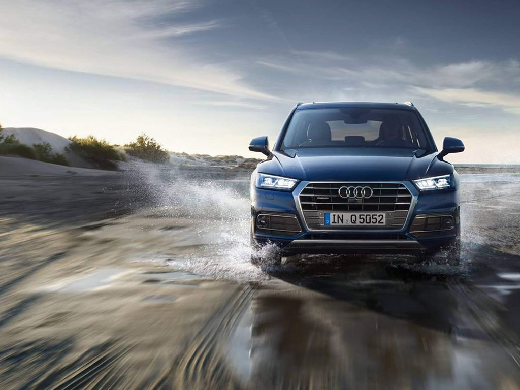 Blue Q5 Front grille and headlights
