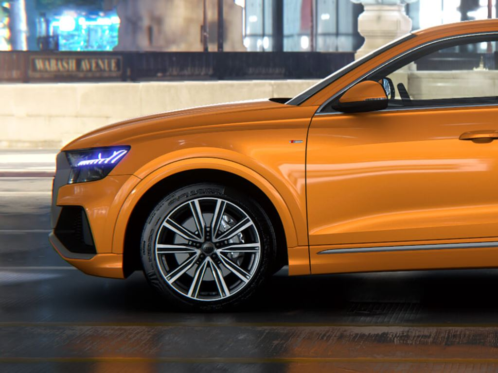 Orange Q8 Side View