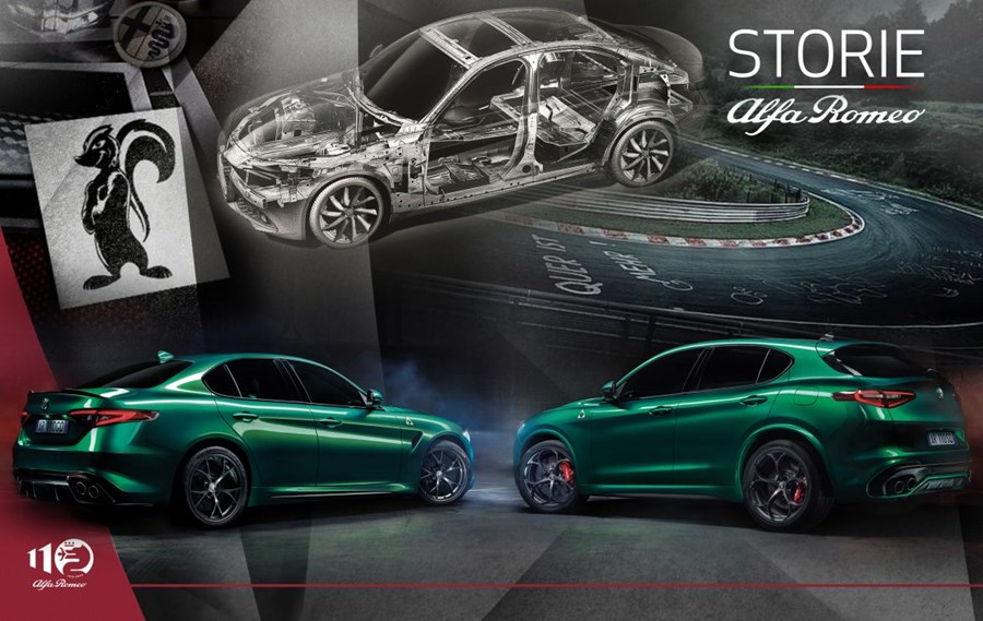 """Storie Alfa Romeo"" Giulia and Stelvio Express 110 Years of Italian Excellence"