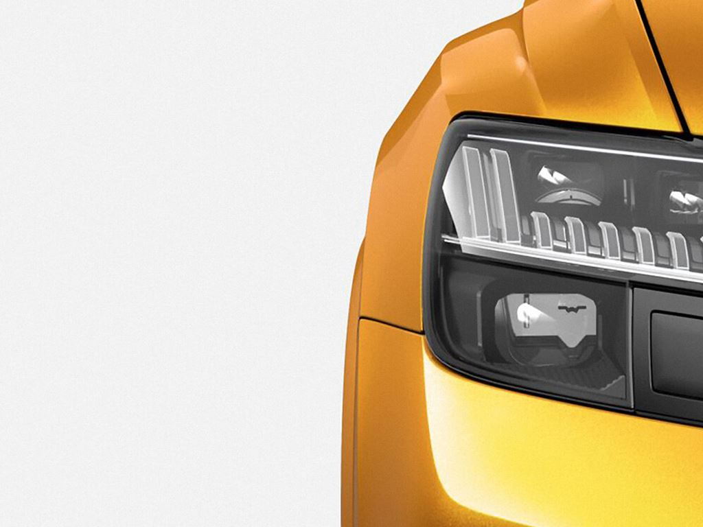 Orange RS Q8 headlight view