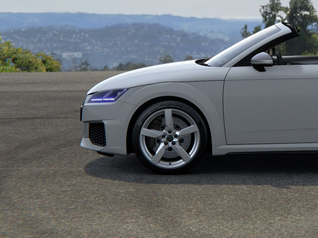 White TT RS Roadster side view