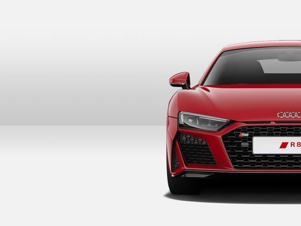 R8 Coupe front view