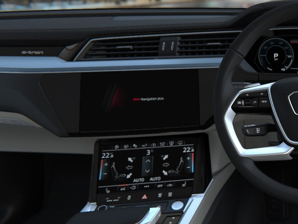 e-tron steering and dash