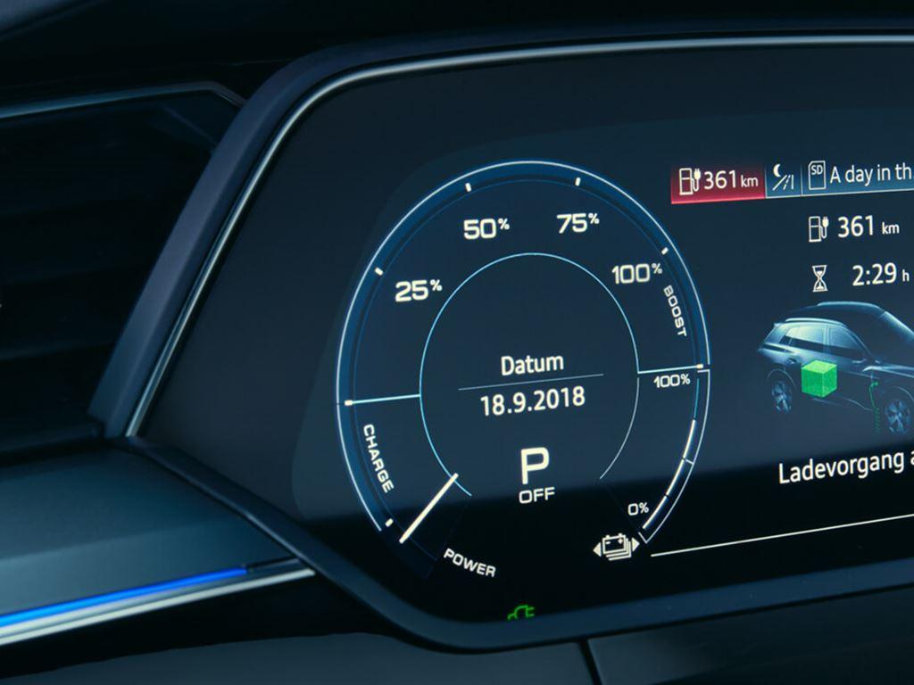 e-tron Sportback dashboard display