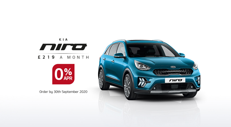 New Kia Niro with 0% APR - from £230 per month
