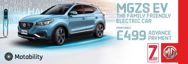 MG ZS EV on Motability