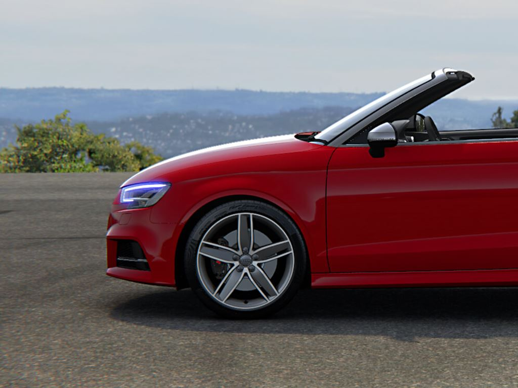 Red S3 Cabriolet Side View