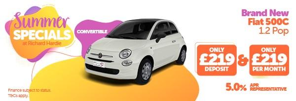 Summer Specials Brand New Fiat 500C 1.2 Pop