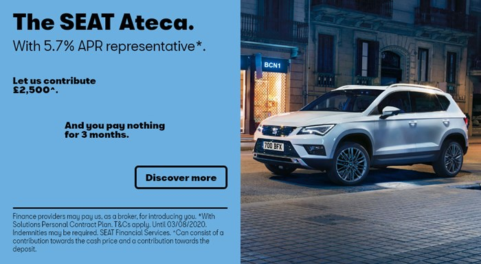 SEAT Ateca with nothing to pay for 3 months