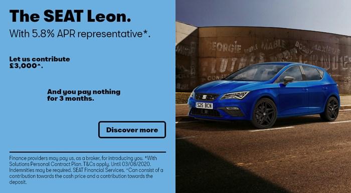 SEAT Leon with £3,000 deposit contribution