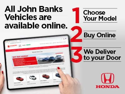 Want a Honda from John Banks but don't want to visit?