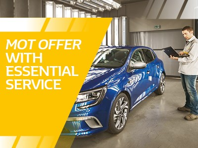New Customer - Renault Essential Service and MOT