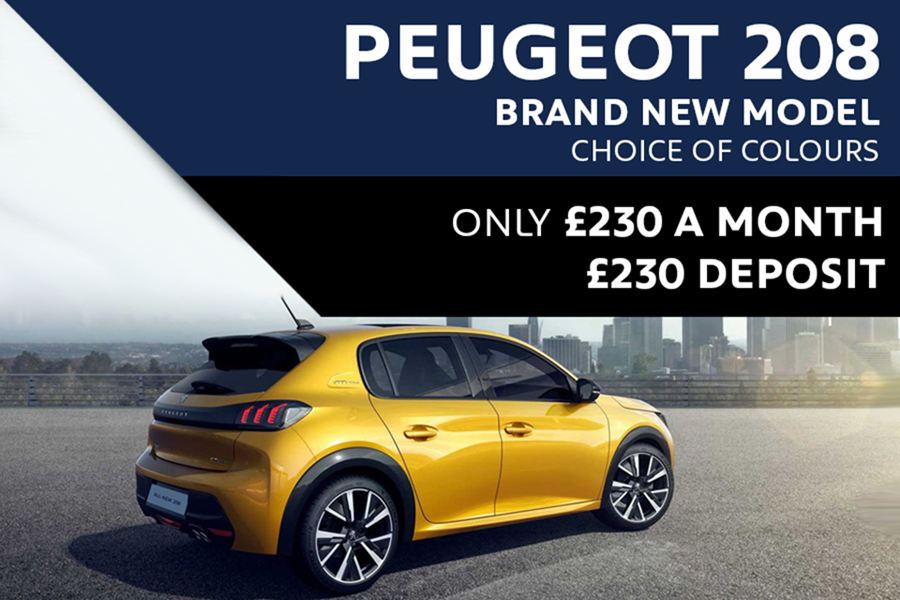 All-New Peugeot 208 & e-208 From £230 A Month With £230 Deposit