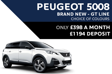 Peugeot 5008 SUV - Only £398 A Month