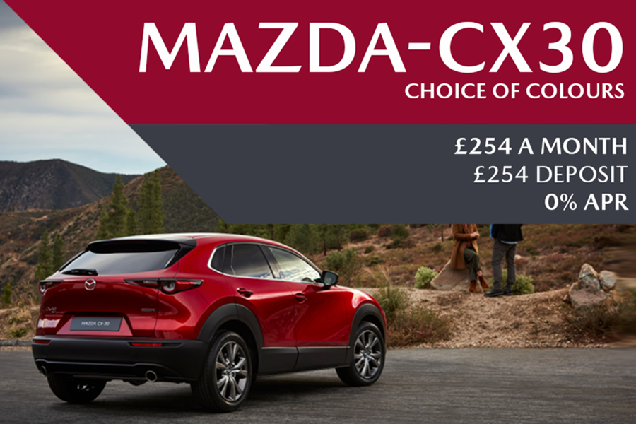 All-New Mazda CX-30 - Now Available For £254 A Month With £254 Deposit On 0% Finance