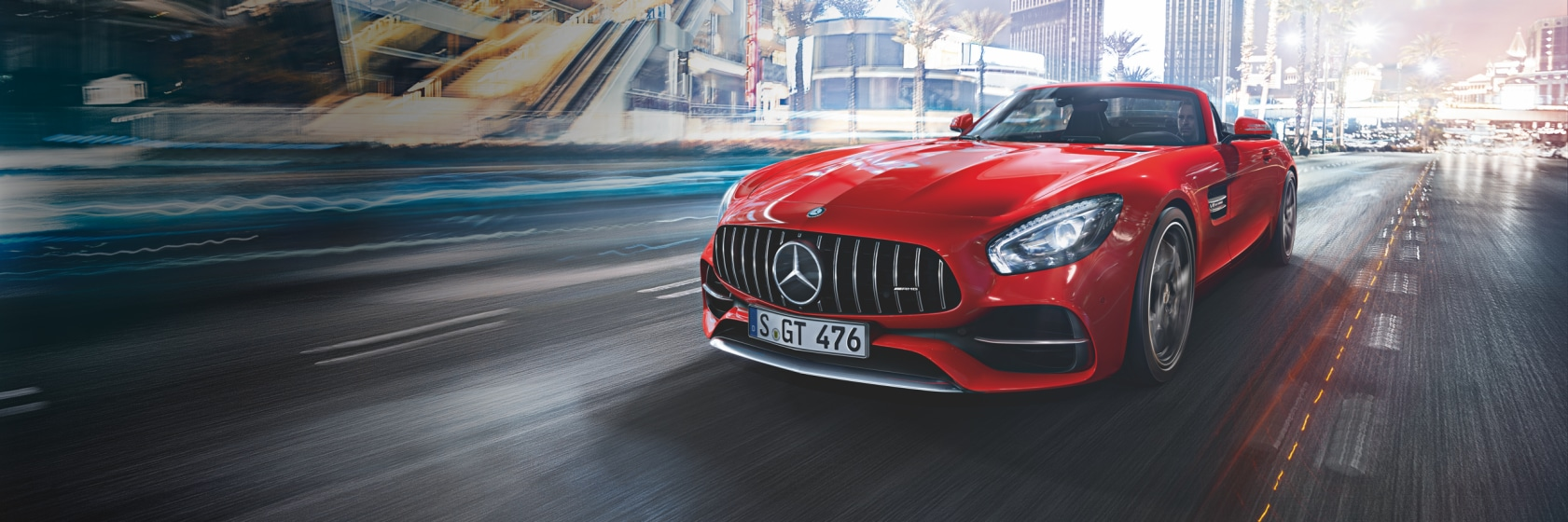 Red Mercedes GT