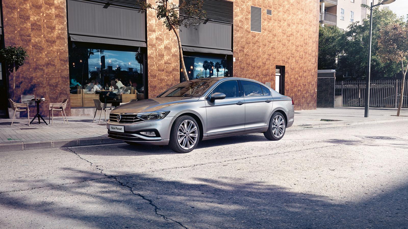Parked Silver Volkswagen