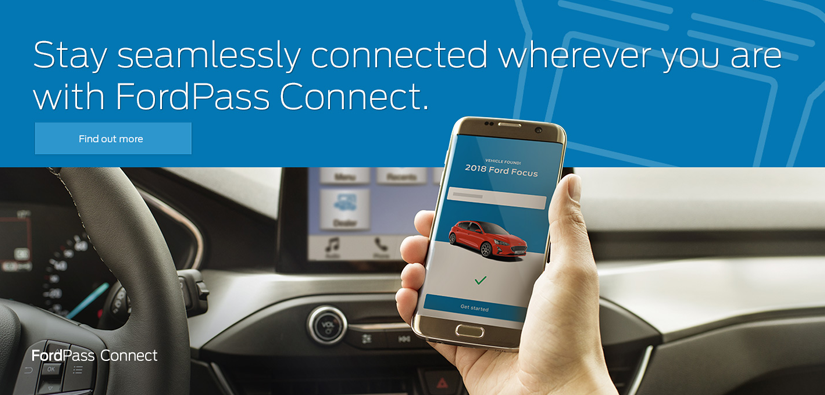 Stay connected with the Ford Pass app.
