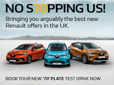 Renault 70 Plate Offers